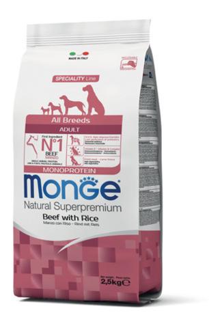 купить Monge Speciality Line Monoprotein All Breeds Beef and Rice