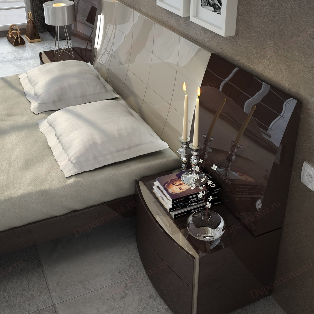 Кровать FENICIA Mobiliario 511 BARCELONA шоколад