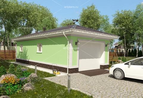 Проект гаража с хозблоком из пеноблоков