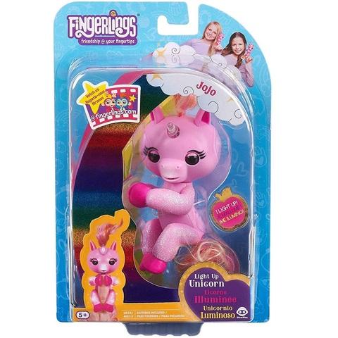 Фингерлингс светящийся Единорог Джоджо розовый