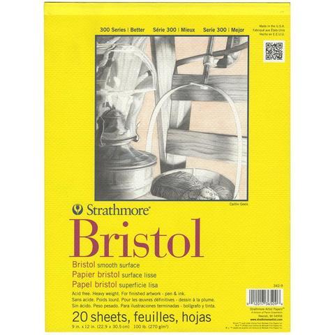 Альбом зарисовок (открыток)  Strathmore Bristol Smooth Paper Pad А4 -20 листов