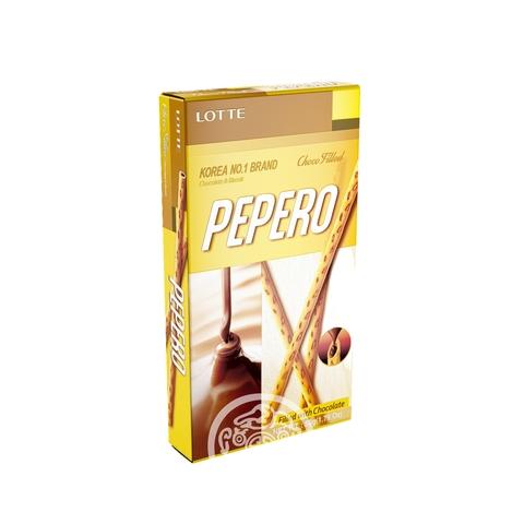 Соломка с шоколадной начинкой PEPERO CHOCO FILLED  50г Lotte Корея