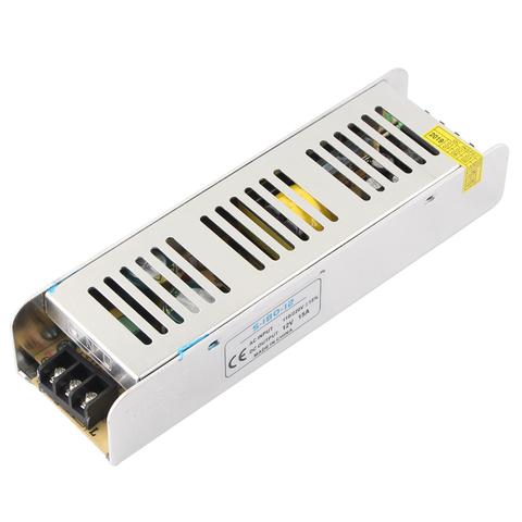 Блок питания 180Вт, 12В, IP23 Узкий, для светодиодных лент и модулей