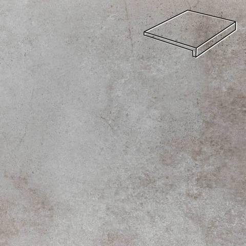 Stroeher - Keraplatte Aera Т 705 beton 294x175x52x10 артикул 4817 - Клинкерная ступень, прямой угол