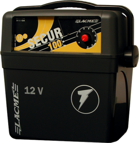 Генератор импульсов Secur 100 Lacme для электроизгороди до 40 км, аккумуляторный, фото