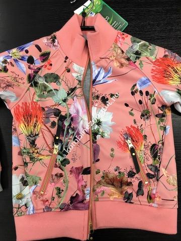 Molo Hestie куртка - ветровка для девочки весна soft shell  Flowers Of The World