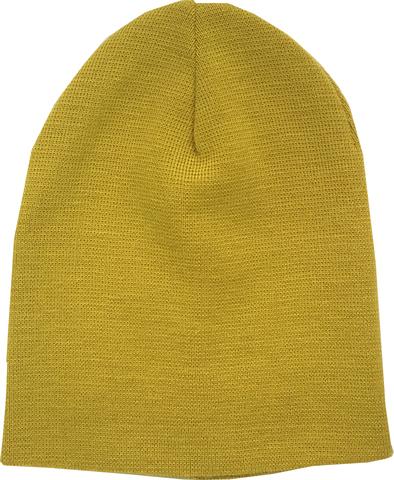 Зимняя детская желтая шапочка бини