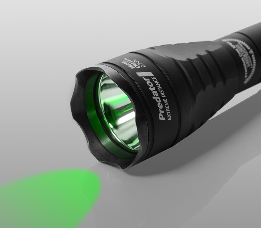 Тактический фонарь Armytek Predator (зелёный свет) - фото 1