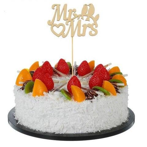 """Топпер в торт/букет """"Mr&Mrs"""" (свадебный)"""