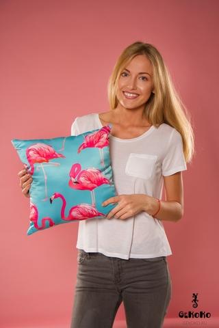 Подушка декоративная «Фламинго»-2