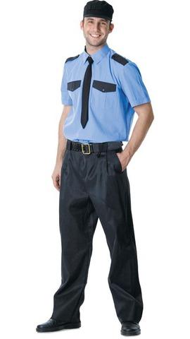 Рубашка охранника короткий рукав синяя