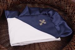 Нарядная крыжма Велена для новорожденных (синий)