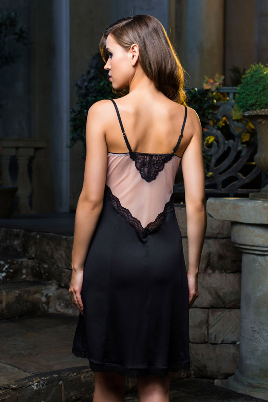 Сорочка женская элегантная черная