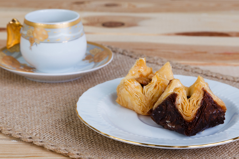 Пахлава Роза шоколадная с фисташками, 250 г