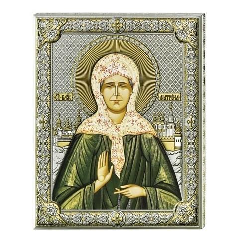 Серебряная икона Святая Матрона