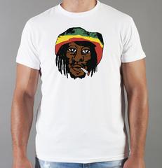 Футболка с принтом Боб Марли (Bob Marley) белая 0014