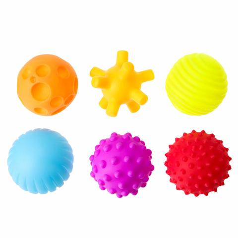Набор тактильных мячиков в сетке 6 штук