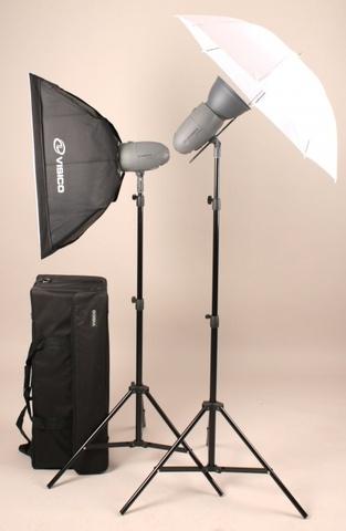 Visico VT-400 soft box/umbrella kit