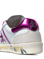Кожаные белые кеды Premiata Andy-D 4679 на шнуровке
