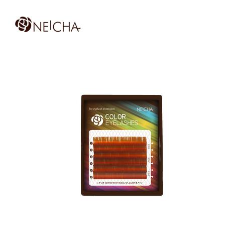 Цветные ресницы NEICHA св-коричневый MIX 6 линий