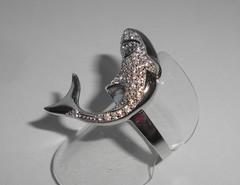 """Кольцо """"Дельфин"""" с топазами, р.18,1"""