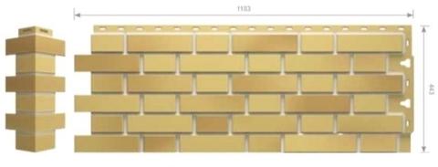 Фасадные панели Docke FLEMISH Желтый-жженый (под кирпич)