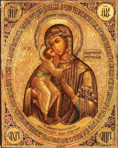 Икона Божией Матери Феодоровская на дереве на левкасе мастерская Иконный Дом