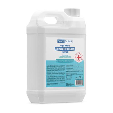 Рідке мило з антибактеріальним ефектом Евкаліпт-Розмарин Touch Protect 5 L (1)