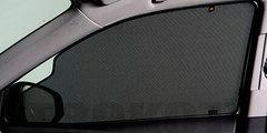 Каркасные автошторки на магнитах для Chery M11 (A3) (2010-2014) Хетчбек. Комплект на передние двери с вырезами под курение с 2 сторон