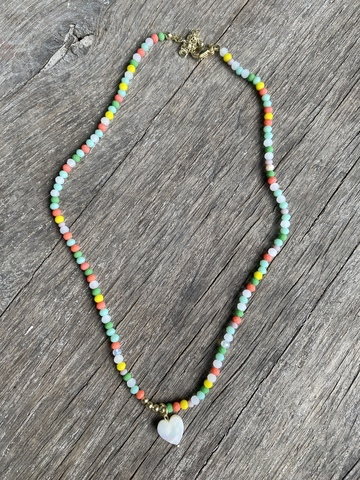 Колье Карамело, разноцветное