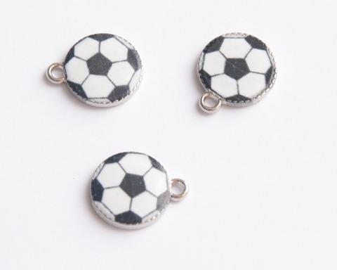 Подвеска эмалевая 2см, футбольный мяч
