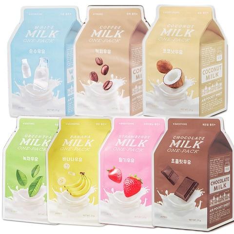 A'Pieu Milk One Pack тканевые маски с молочными протеинами