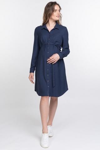 Платье для беременных 10871 синий