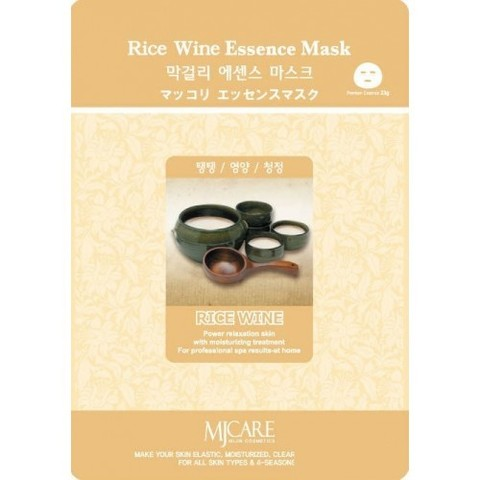 Тканевая маска с экстрактом рисового вина Mijin Cosmetic MJ Care Rice Wine Essence Mask