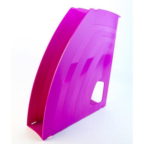 Вертикальный накопитель Attache Fantasy пластиковый розовый ширина 65 мм