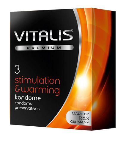 Презервативы VITALIS PREMIUM stimulation   warming с согревающим эффектом - 3 шт.