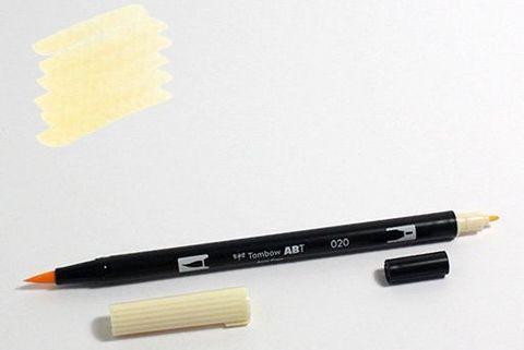 Маркер-кисть Tombow ABT Dual Brush Pen-020, персиковый