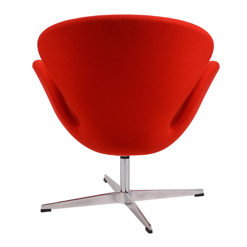 Кресло Arne Jacobsen Style Swan Chair красная шерсть - вид 4