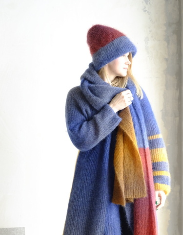 Описание Комплект шапка+шарф 3-color Gomitolo