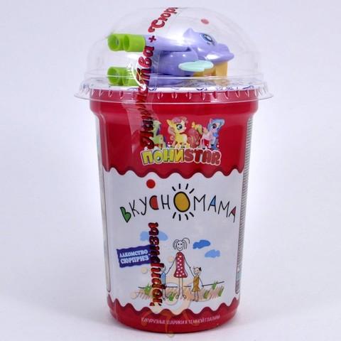 """Кукурузные шарики в темной глазури """"ПОНИSTAR"""" с игрушкой Вкусномама, 30г"""