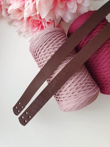 Ручки для сумок пришивные (2 шт)  60 см цвет Шоколад