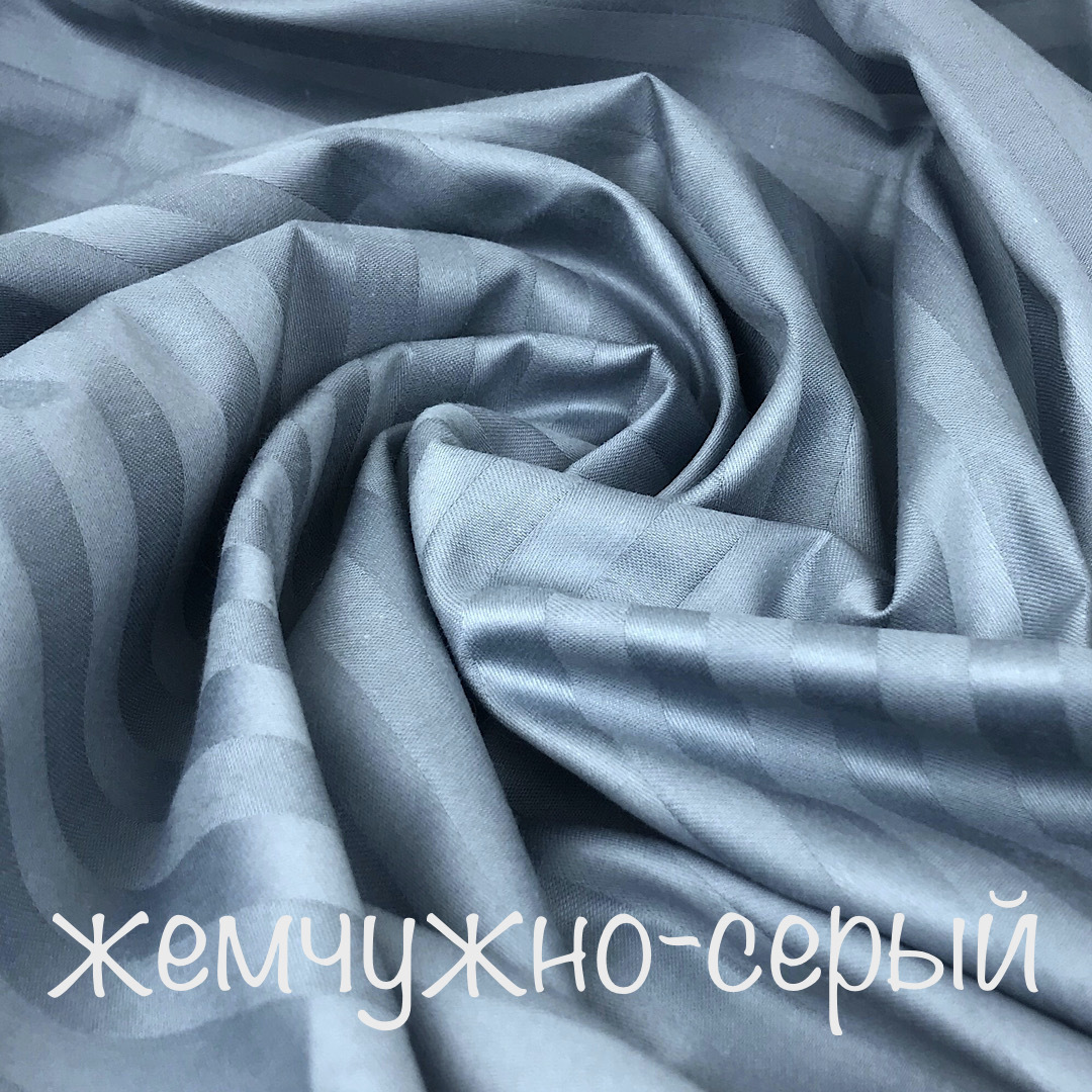 САТИН страйп - простыня на резинке 160х200