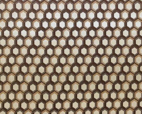 Портьерная ткань в современном стиле Арт бежево-коричневый