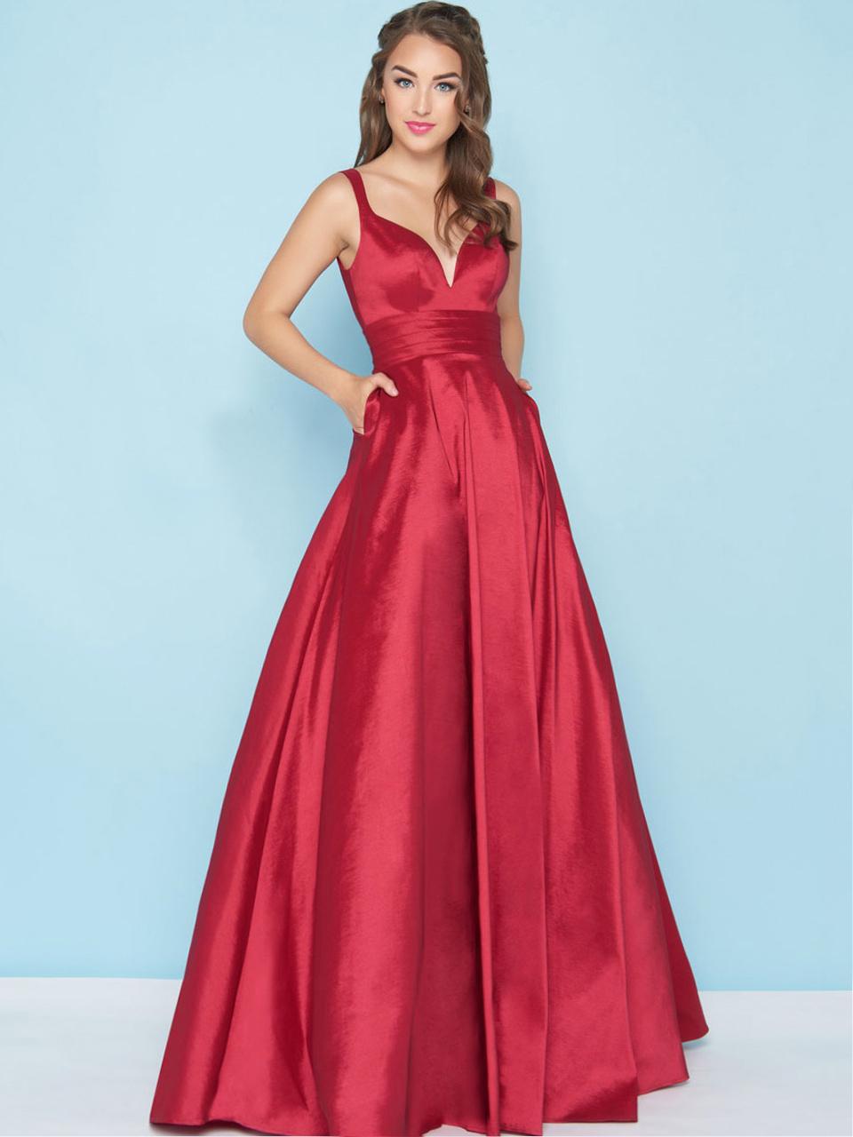 Красное платье в пол Mac Duggal 12800