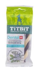 Лакомство для собак мелких пород TitBit DENTAL, косичка с мясом кролика