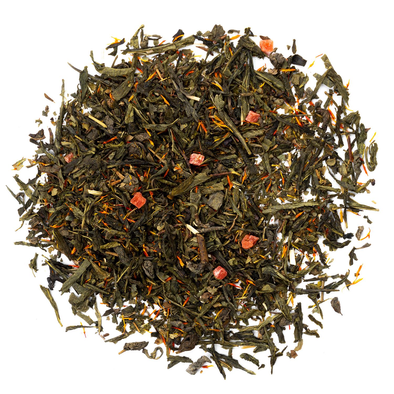 """Зеленый чай """"Клубника со сливками"""" 100гр зелёный чай с добавками Клубника_со_сливками.jpg"""