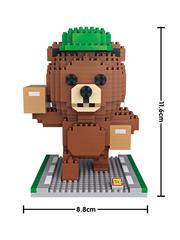 Конструктор LOZ Медведь курьер 650 деталей NO. 9749 Express Bear iBlockFun Series