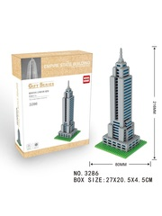Конструктор Wisehawk & LNO Эмпайр-стейт-билдинг Нью-Йорк 723 деталей NO. 3286 Empire State Building Gift Series
