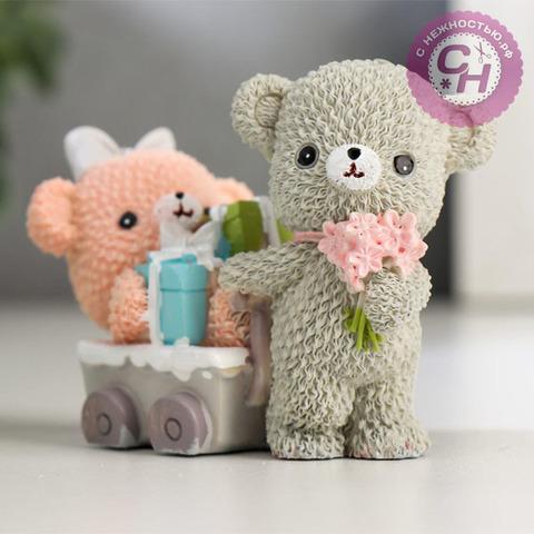 Фигурка Мишки-малыши, цветные, 5,5*7,5*4 см, 1 шт.