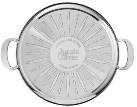 Кастрюля Tefal Jamie Oliver H8039944 d=30см (с крышкой) серебристый (2100098952)